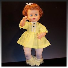"""1960's Vogue Ginny Baby 16"""" Drink and Wet Doll"""