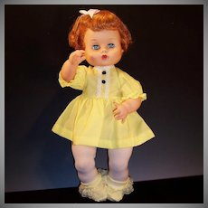 "1960's Vogue Ginny Baby 16"" Drink and Wet Doll"