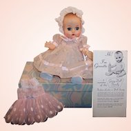 1950'S VOGUE Ginnette Doll, Working Squeaker, Box, Dresses, Shoes, Socks & more...