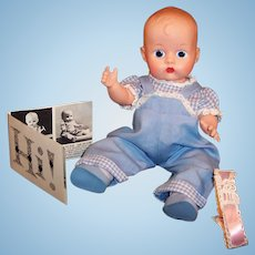 Vogue Ginnette Twin Doll, Overalls & Shirt #2131, Diaper & more