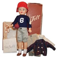 Vogue Jeff Doll; School Outfit, Jacket, Football Uniform, Shoes, Boxes and more....