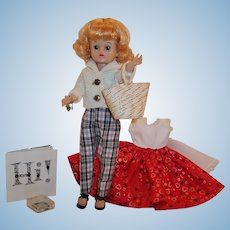Gorgeous! 1950's Vogue Jill Fashion Doll; 2 Outfits, Charm Bracelet, & Extras!