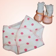 1950's Vogue Ginnette Doll Shoes & Diaper