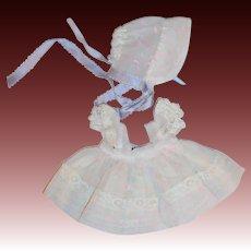 "Vogue 1956 Nylon Party Dress and Bonnet For Ginnette (#6510)  ""Paint Spatter"" Medford"