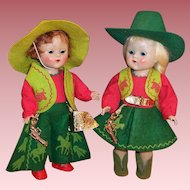 Vogue Strung Ginny Cowboy and Cowgirl Transitional Dolls