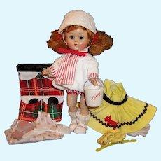 1950's Vogue Ginny Bent Knee Walker; Scottish Terrier Dress, Swimsuit Set, Sand Bucket, Shoe Bag & more...