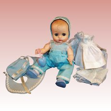 Vogue 1957 Ginnette Doll Baby, 3 Outfits Plus... Shoes, Socks, Rattle, Robe