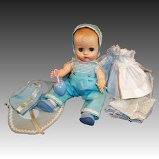 ON LAYAWAY:  Vogue 1957 Ginnette Doll Baby, 3 Outfits Plus... Shoes, Socks, Rattle, Robe