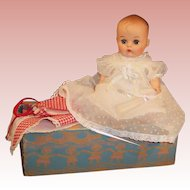 Pretty! 1950's Vogue Ginnette Doll, Box, Night Gowns, Romper, Shoes, and more