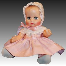 Vogue 1950's Gorgeous Ginnette Doll Baby, Dress, Coat, Play Suit, 3 Bonnets, Diaper, Shoes, and Socks