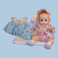 Vogue Ginnette Baby Doll : Lacy Romper & Bonnet, Dress & Panties, Bunting and more...