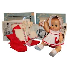 1950's Vogue Ginnette Sleep Eye Baby Doll: Boxed Duck Romper, Snow Suit & more...