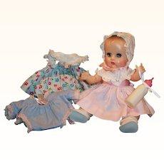 1957 Beautiful Vogue Tearing Sleep Eye Ginnette Doll: Dresses, Bonnet, Sleeper Sacque, Shoes, Socks and more