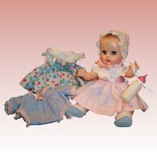 1957 Beautiful Vogue Tearing Sleep Eye Ginnette Doll: Dresses, Bonnet, Sleeper Sacque, Shoes, Socks and more