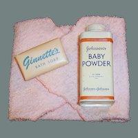 """1950'S VOGUE 8"""" Ginnette Baby Doll Bath Set"""