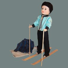 1950'S Vogue Jeff  Doll; Ski Outfit, Skis, Poles, Pants, Shirt and more...