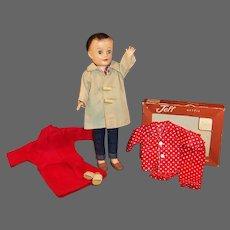 1950's Vogue Fashion Doll Jeff; Boxed Pajamas, Robe, Car Coat, Jeans, Shirt & more...