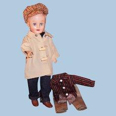 1950's Vogue Jeff  Doll: Car Coat, Tweed Ivy League Cap, Jeans, Khaki Pants, Striped Shirt and more...