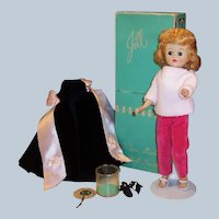 Vogue 1950's Blonde Jill Doll; Box, Black Velvet Gown & Shawl, Rose Velvet Pants & Sweater and more....