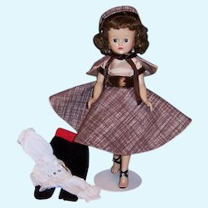 Beautiful Brunette 1950's  Vogue Jill Walker Doll & TWO Excellent Outfits