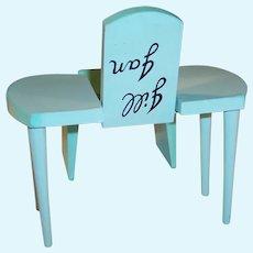 Vogue Jill & Jan Vanity Table and Bench # 3860