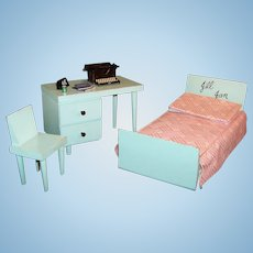 1950's Vintage Vogue Doll Jill Jan Furniture: Bed, Desk, Chair and more...