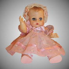 ON LAYAWAY:  Vogue 1957 Ginnette Doll Baby Dress, Bonnet, Coat,  Diaper, Sleeper, Socks and Shoes