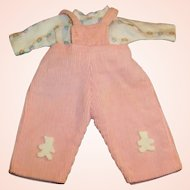 "1950's Vogue 8"" Ginnette Baby Doll Corduroy Overalls & Jersey Shirt (# 7715)"