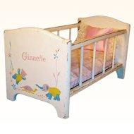Vintage 1950'S VOGUE Ginnette Doll Strombecker Crib