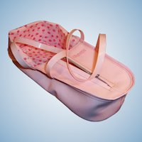 1950's Vogue Ginnette Pink Plastic Zippered Toter