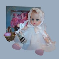 1950's Vogue Ginnette Baby Doll:  Working Squeaker: 2 Dresses, Bonnet, Bottle, Shoes and more...