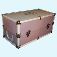 """Large 18"""" Metal Vogue Doll Case Trunk (Made for 16"""" Ginny Baby)"""