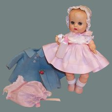 1950's Vogue Ginnette Baby Doll Pretty in Pink Party Dress & Bonnet, Coat, Hat, Romper & more