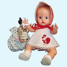 Vogue 1950's Ginnette Doll Baby; Bottle, Rooster Sun Suit, Romper and more...