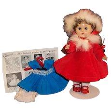 Vogue Ginny Doll SLW; Kinder Crowd Blue Dress,  Christmas Red Dress, Fur Trimmed Coat & Hat and more....