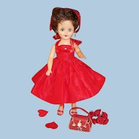 1950'S Vogue Jan Doll & Red Valentine's Party Dress