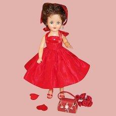 1950'S Vogue Jan Doll & Red Valentine's Party Dress