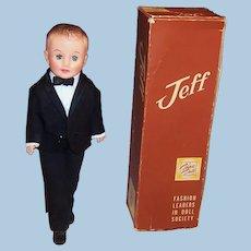 1950's Vogue Jeff Doll; Tuxedo (Shirt, Pants, Jacket , Cummerbund, & Bow Tie), Box & more....