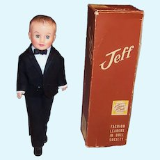 1950's Vogue Jeff Doll; Tuxedo (Shirt, Pants, Jacket , Cummerbund, & Bow Tie), Box & more....