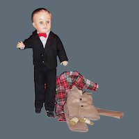 1950's Vogue Jeff Teen Doll; Tuxedo, Bow Tie, Shoes, Robe, Slippers, Pajamas and more...