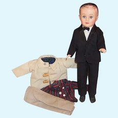 Vogue 1950's Jeff Doll: Tuxedo, Bow Tie, Car Coat, Tan Chino's and more...