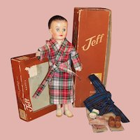 Minty! 1950'S Vogue Jeff Doll; Robe & Slippers, Boxers, Chinos, Striped Shirt, Boxes and more....