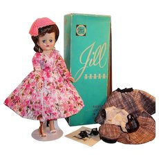 1950's Vogue Jill Walker Doll w/ Box, 2 Dresses, 2 Hats, 2 prs. Shoes, Slip and more...