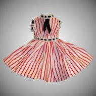 Vogue Jill 1950's Striped Cotton Dress