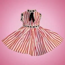 Vogue Jill 1950's Striped Cotton Dress