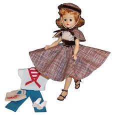 Vogue 1950's Jill Redhead Doll; Skirt, Cape & Hat and Nautical Outfit with Tote