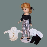 Pretty! !  Vogue 1950's Blonde Pony Tail Jill Doll;  2 Outfits and more...