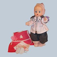 Vogue 1950's Ginnette Baby Doll: Winter Ski Snowsuit & Summer Gardening Apron Outfit