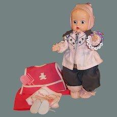 Vogue 1950's Ginnette Baby Doll: Winter Ski Snowsuit & Summer Gardening Apron Outfit