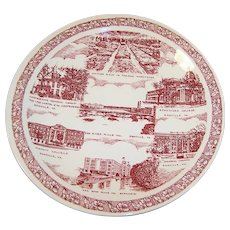 """Scenes of Danville, Virginia"" Vernon Kilns Transferware Plate"